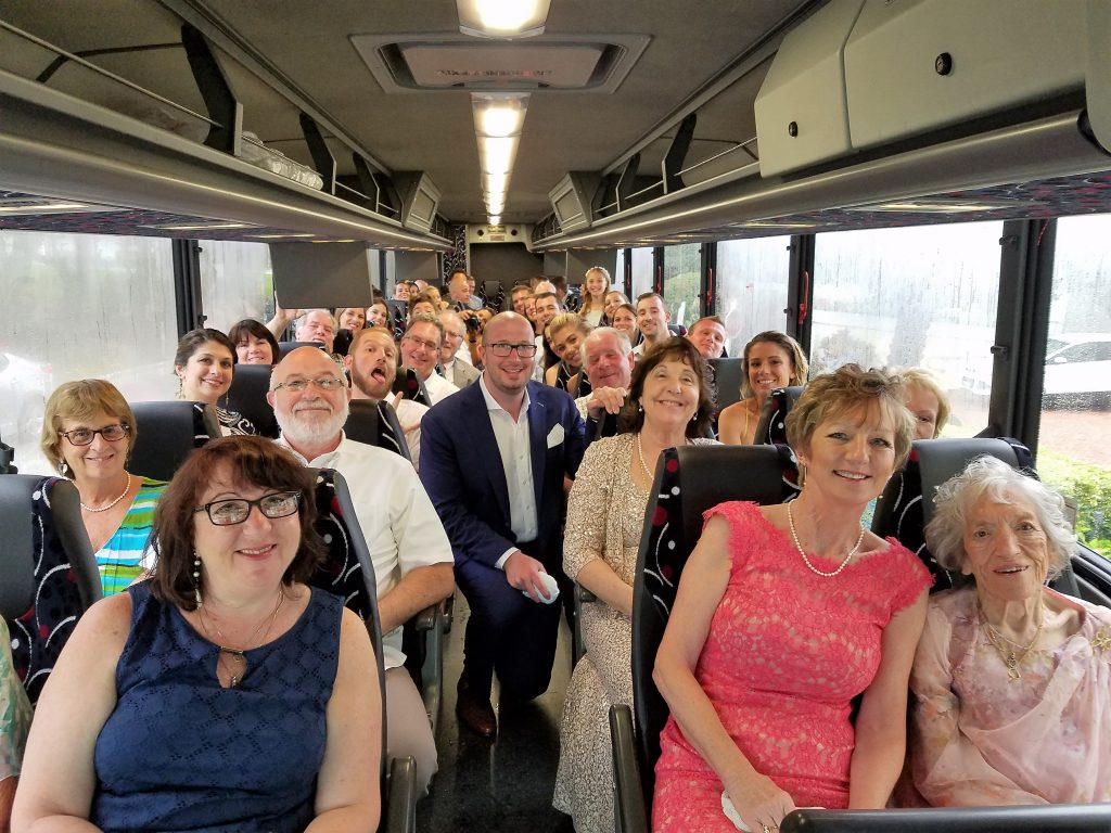 wedding shuttle guests