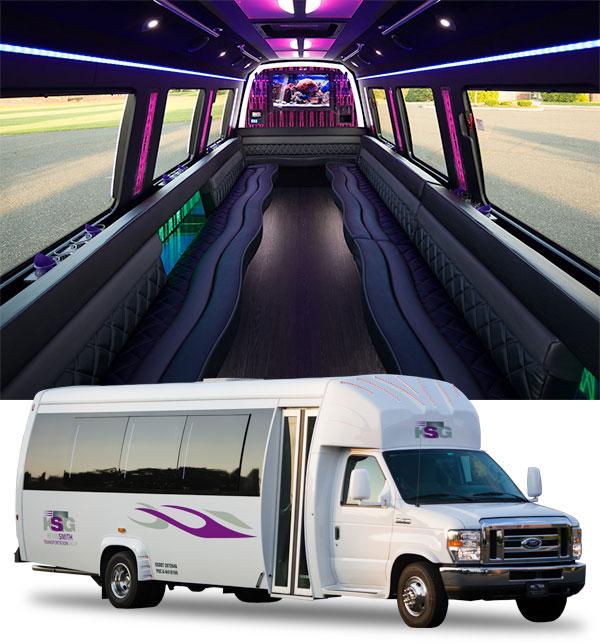 23 passenger party bus rental