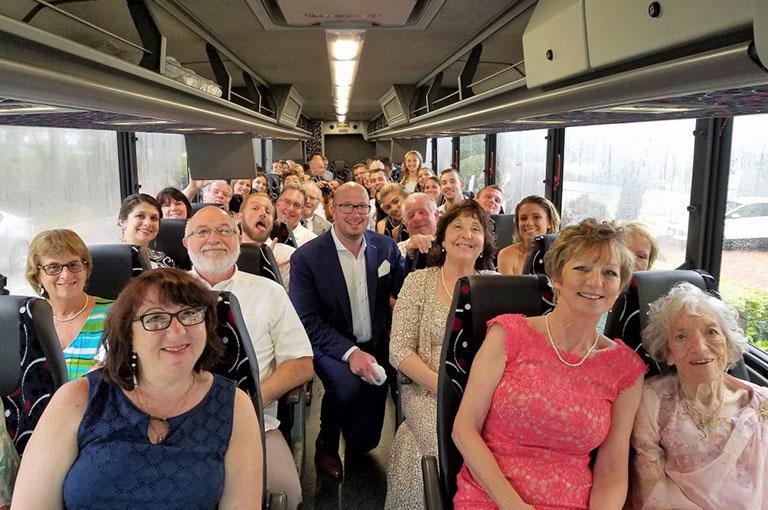 wedding guest shuttle service