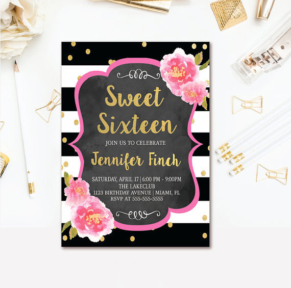 Online Printing Allows You To Customize The Birthday Wording So Can Easily Make Party For Two If Are Having A Masquerade Themed Sweet 16