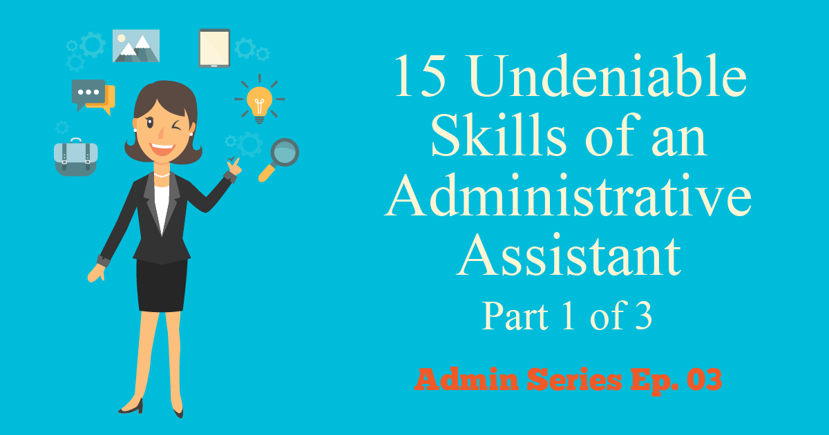 skills of an administrative assistant